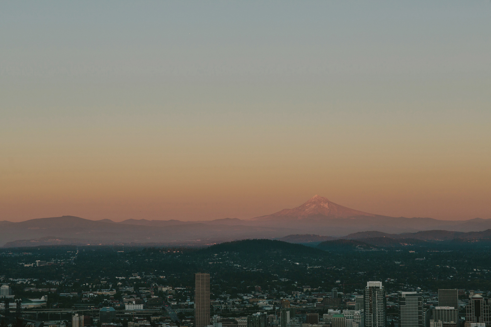Mount Hood from Pittock Mansion