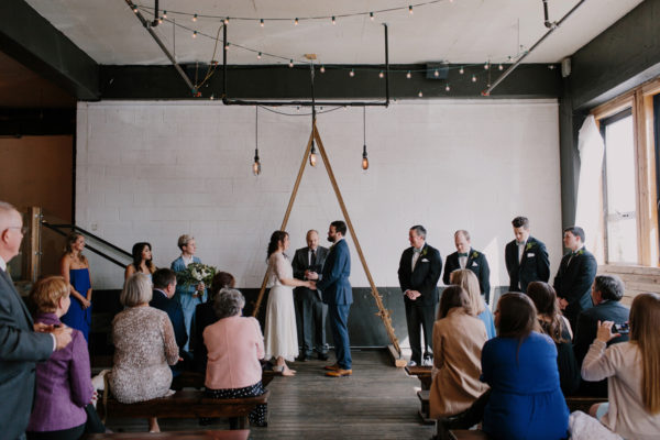 Union/Pine wedding photographer Portland warehouse wedding ceremony
