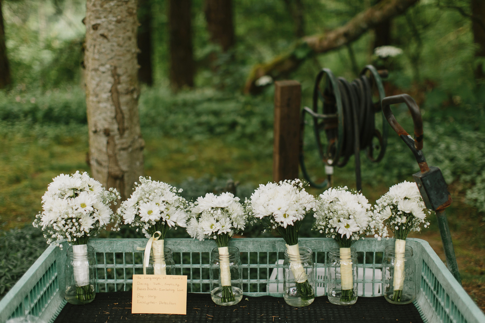 Wedding bouquets at Bridal Veil Lakes