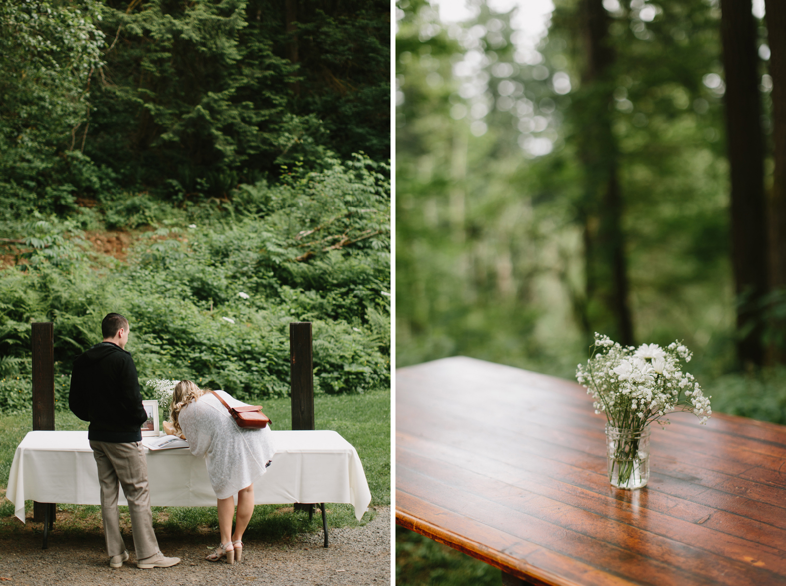 guest book sign in at bridal veil lakes