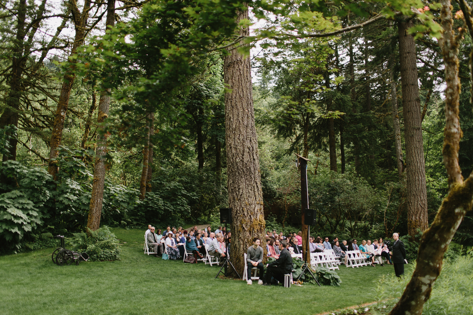 The ceremony site at Bridal Veil Lakes in Corbett, OR