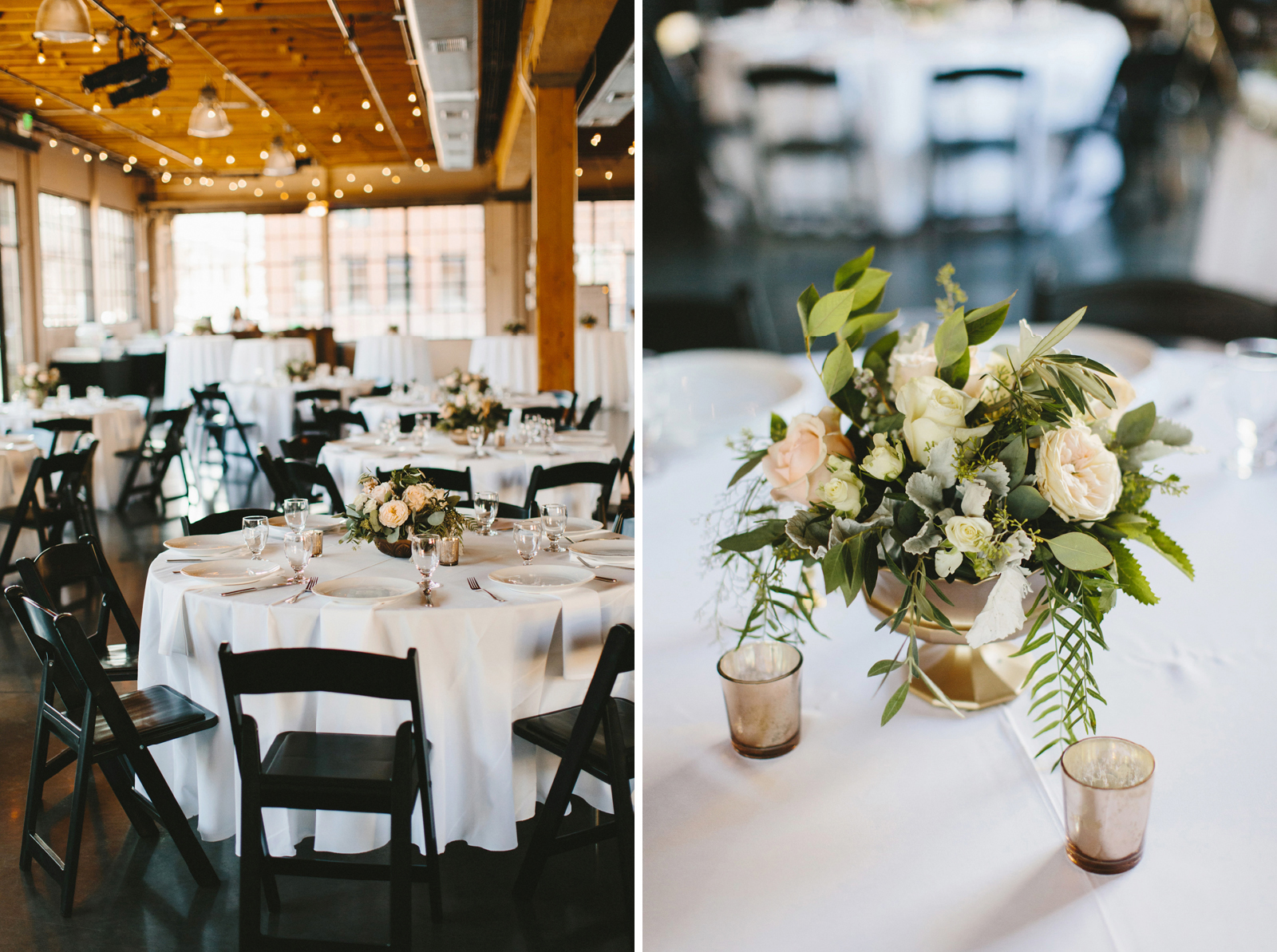 Castaway Portland wedding reception decor