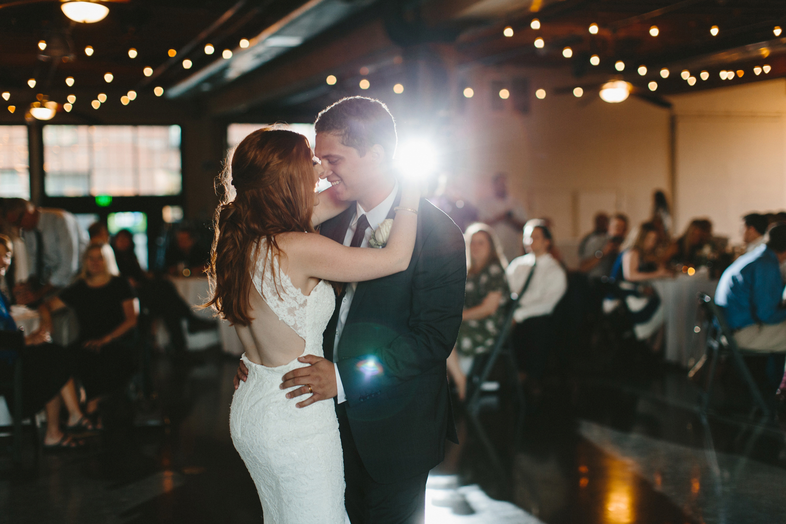 bride and groom first dance at Castaway Portland in Northwest Portland
