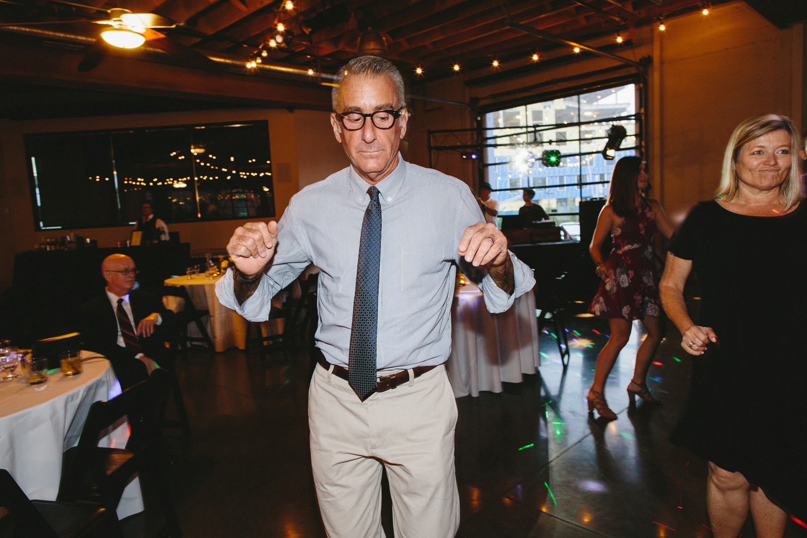 reception dancing at Castaway Portland in Northwest Portland