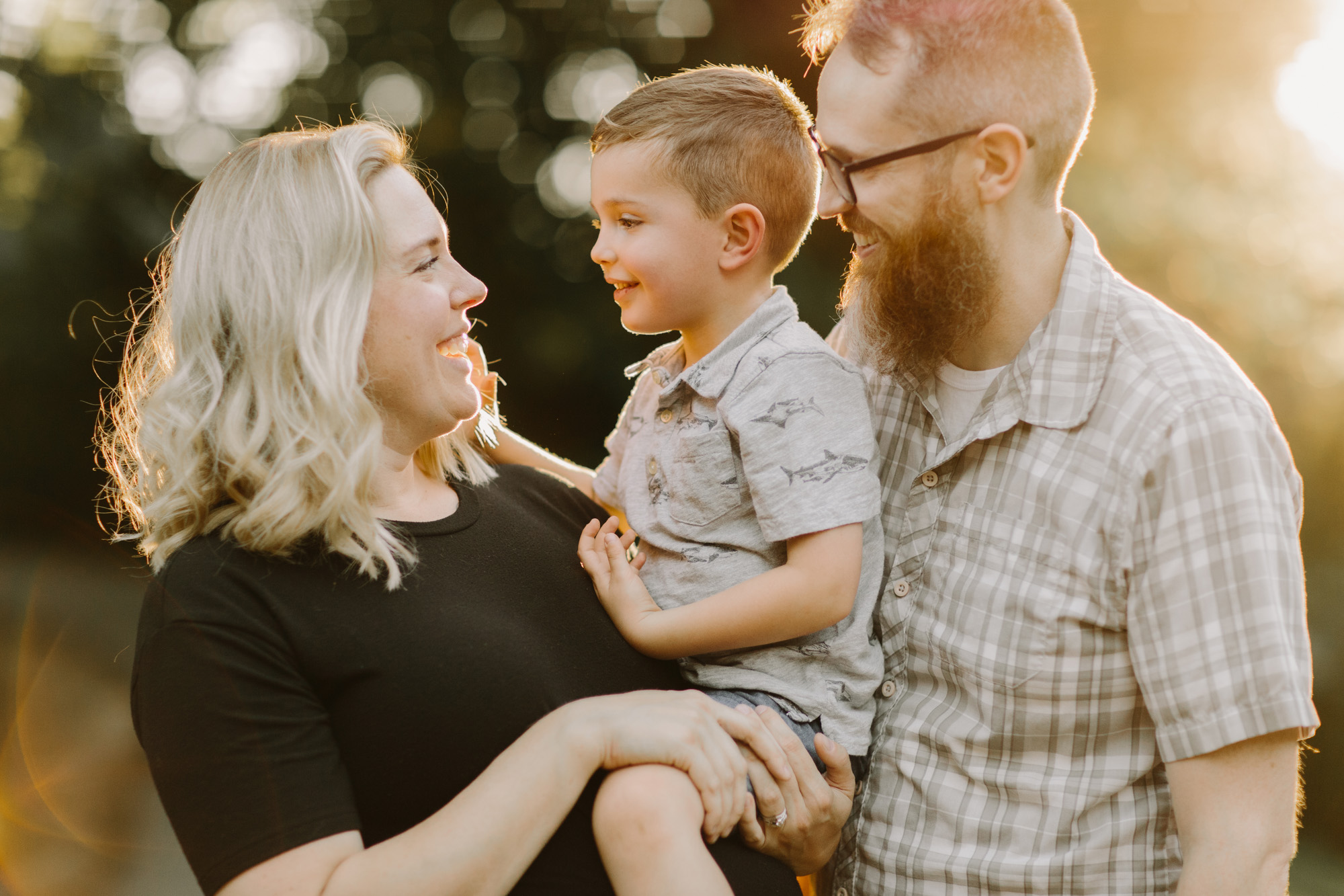 relaxed family photos in Vancouver, WA
